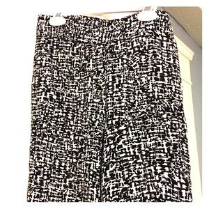 Black and white print palazzo pants